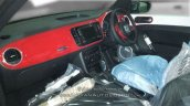 New VW Beetle interior at an Indian dealerships