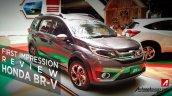 Production-spec Honda BR-V front three quarter snapped