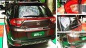 Production-spec Honda BR-V rear elements snapped