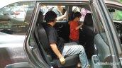 Production-spec Honda BR-V rear seats snapped