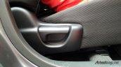 Production-spec Honda BR-V seat adjustment snapped