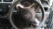 Production-spec Honda BR-V steering wheel snapped