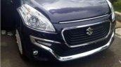 Suzuki Ertiga Dreza purple front bumper spied