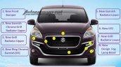 Suzuki Ertiga Dreza front leaked