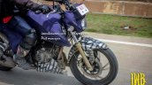 TVS Apache 200 gold fork spied up-close in Indonesia