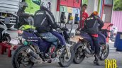 TVS Apache 200 spied up-close in Indonesia