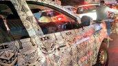 Tata Nexon X104 front door spied