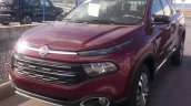 Top-end Fiat Toro double cab front quarter spotted