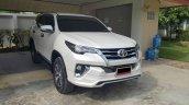 Toyota Fortuner Fiar bodykit white front quarter Thailand