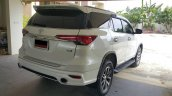 Toyota Fortuner Fiar bodykit white rear quarter Thailand