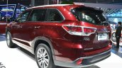 Toyota Highlander rear three quarters at the 2015 Shanghai Auto Show