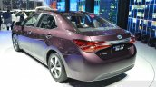 Toyota Levin HEV rear three quarters close at the 2015 Shanghai Auto Show