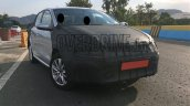 VW Ameo sub-compact sedan front quarter snapped up close