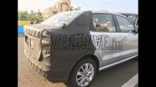 VW Ameo sub-compact sedan rear end snapped up close