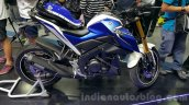 Yamaha M-Slaz blue white side unveiled at 2015 Thailand Motor Expo