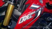 Yamaha M-Slaz red tank fin unveiled at 2015 Thailand Motor Expo