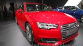 2016 Audi A4 front three quarters left at Auto Expo 2016