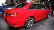2016 Audi A4 rear three quarters right at Auto Expo 2016