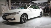 2016 Honda Accord Hybrid front quarter at the Auto Expo 2016