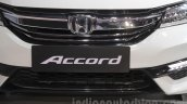 2016 Honda Accord Hybrid grille at the Auto Expo 2016