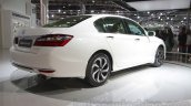 2016 Honda Accord Hybrid rear three quarter at the Auto Expo 2016