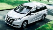 2016 Honda Odyssey Hybrid front three quarters in motion