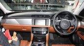 2016 Jaguar XF dashboard at the Auto Expo 2016