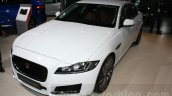 2016 Jaguar XF front quarter at the Auto Expo 2016