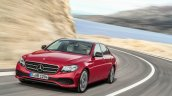 2016 Mercedes E-Class E 220 d front three quarters left side Hyazinth red