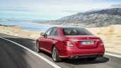 2016 Mercedes E-Class E 220 d rear three quarters Hyazinth red