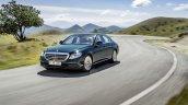 2016 Mercedes E-Class E 350 e front three quarters callait blue