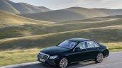 2016 Mercedes E-Class E 350 e front three quarters in motion callait blue