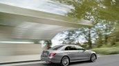 2016 Mercedes E-Class E 400 4MATIC rear three quarters right side selenit grey magno