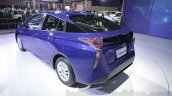 2016 Toyota Prius rear three quarter at Auto Expo 2016