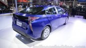 2016 Toyota Prius rear three quarter right at Auto Expo 2016