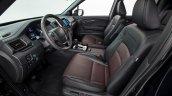 2017 Honda Ridgeline black front seats