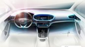 Hyundai Ioniq dashboard renderin