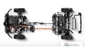 Hyundai Ioniq hybrid drivetrain top view