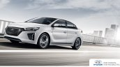 Hyundai Ioniq hybrid front three quarters left side in motion