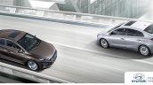 Hyundai Ioniq hybrid in motion