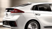 Hyundai Ioniq hybrid rear-end side view