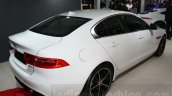 Jaguar XE rear three quarter at the Auto Expo 2016