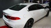Jaguar XE rear three quarter at the Auto Expo 2016