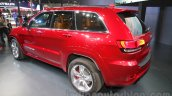 Jeep Grand Cherokee SRT rear three quarters left at Auto Expo 2016