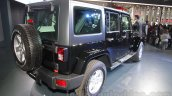 Jeep Wrangler Unlimited rear three quarters right at Auto Expo 2016
