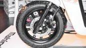 Mahindra Gusto 125 telescopic fork disc brake at Auto Expo 2016