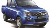 Mahindra Imperio Double Cab blue front quarter