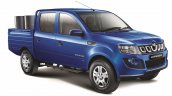 Mahindra Imperio Double Cab blue with drums side