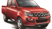 Mahindra Imperio Double Cab red front quarter