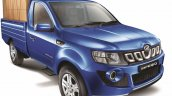 Mahindra Imperio Single Cab blue front quarter